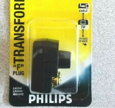 Philips Transformer convert 300 ohm twin lead wire to 75 ohm f type connector