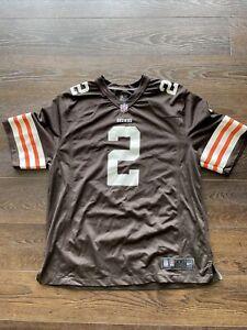 "Nike ""On Field"" Mens Cleveland Browns #2 Johnny Manziel Jersey; 2XL / XXL; NFL"