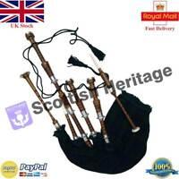 SH Playable Highland Bagpipe Natural Rosewood Beginner Package Kit/Dudelsack