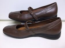 St Johns Bay Women's Brown Leather Mary Janes...Size 9 M