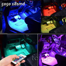 """4 x 12"""" 7 Color RGB LED Knight Rider bars auto atmosphere light +remote"""