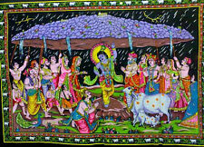 Lord Hanuman Batik Sequence Wall Hanging Tapestry Painting Large ASBL019