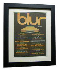 BLUR+UK TOUR+POSTER+AD+RARE+ORIGINAL+1997+FRAMED+EXPRESS GLOBAL SHIP+SONG 2+MOR