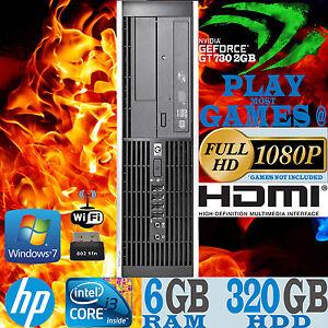 Ultra Fast HP Gaming Computer Core i3 6GB 320GB nVidia Geforce GT 730 2GB Wi-Fi