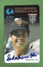 1995 The Collectors Advantage-Sadaharu Oh-Autograph-Yomiuri Giants-Phone Card