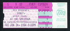 1994 janet jackson concert ticket stub janet weltreise spectrum queen of pop
