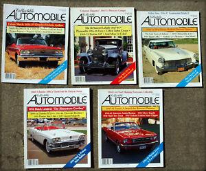 five COLLECTIBLE  AUTOMOBILE magazines, no wear, no odors, no mailing label