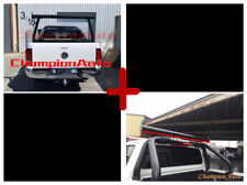 BLACK Alloy Adjustable(Height&Width) Ladder Rack with Sport Bars Extension Bar