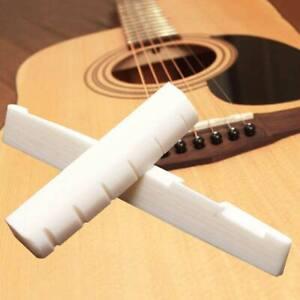 Bone Acoustic Guitar Natural Bridge Saddle 72mm End Nut 43mm Parts Slotted Set