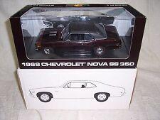 1/18 1968 CHEVY NOVA SS 350 PEACHSTATE MAROON LIMITED GMP DIECAST CAR-RARE!