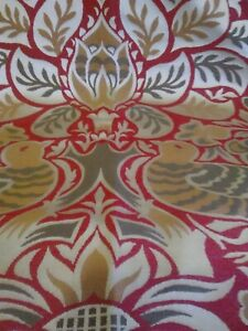 """Red and gold ethnic boho designer throw 54""""x36"""". X2  with cushion covers"""
