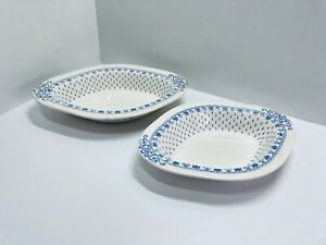 Copeland Spode Popes Empire  Blue* 2 x Serving Dishes Tray / Platter * 1930s