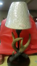 Deer Antler Accent Lamp Light w/shade, faux antler