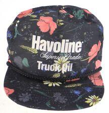 Havoline Superior Grade Truck Oil Texaco Tropical Hawaiian Snapback Hat Black