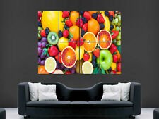 Fresh fruits baies nourriture saine wall poster art photo imprimé grand énorme