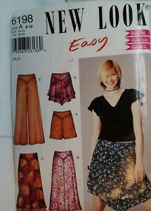 Simplicity 6198 Pants & Skirts Sewing Pattern  8-18  New