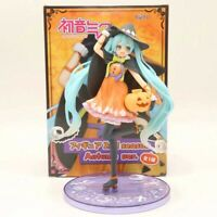 18CM Halloween Pumpkin Miku Statue PVC Action Anime Figure Toy in Box ME