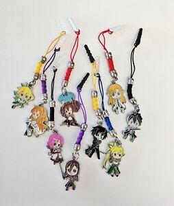 Sword Art Online Anime Cell Phone Dust Plug Charms Asuna Lisbeth Silica Leafa