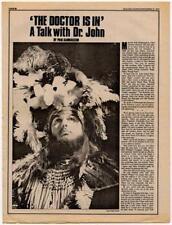 Dr. John Interview/article 1973 LMNO