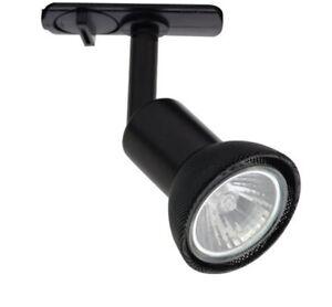 Ansell ADGU10S/B Dara Black Track Lighting Spotlight Mains Head 50W GU10