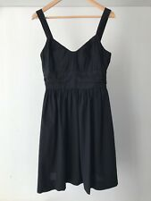 Vince 100% Cotton Empire Waist  Casual Dress in Black, US Size 8 / AU Size 12