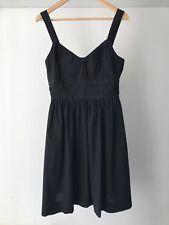 Vince 100% Cotton Empire Waist  Casual Dress in Black, US Size 8 / AU Size 12