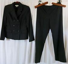 Amanda Smith Petite Suit 10P Stripe black Pant Suit