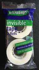 Magic Invisible Tape 19mm X 33mm (pack quantity 2)