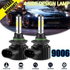 CREE LED 9006 HB4 White Headlight Fog Light Bulb Conversion Kit Low Beam 4-side