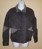 Jordache 80's Black & Gray Denim Jean Jacket Vintage Women's Size Medium M - #AJ