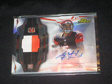 AJ MCCARRION BENGALS ROOKIE CERTIFIED AUTOGRAPHED SIGNED FOOTBALL JERSEY CARD