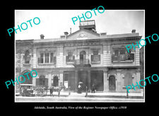 OLD LARGE HISTORIC PHOTO ADELAIDE SOUTH AUSTRALIA REGISTER NEWSPAPER OFFICE 1910