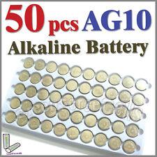 50 piezas AG10 LR54 SR54 SR1130W KA54 189 L1130 uso individual Batería Alcalina