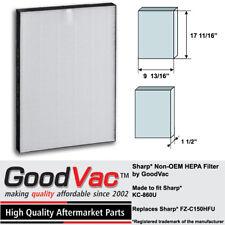 Sharp Non-OEM HEPA Filter FZ-C150HFU KC-860U Air Purifier Filter by GoodVac