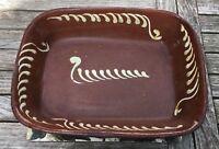 19th century Buckley slipware roasting dish
