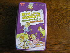 2008 University Games FIVE LITTLE MONKEYS JUMPING on the BED in Tin Box Ages 3+