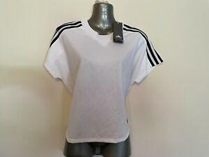 Adidas White T-Shirt/Top -  8-10 - BNWT