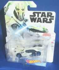 DISNEY STAR WARS GENERAL GRIEVOUS COLLECTOR HOT WHEELS CHARACTER CARS BLACK NEW