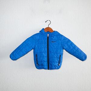 Nike Blue Puffer Hooded Coat Jacket Toddler 2t