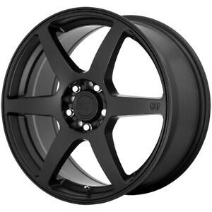 "Motegi MR143 CS6 17x7 4x100/4x108 +40mm Satin Black Wheel Rim 17"" Inch"