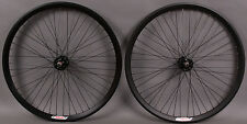 Velocity Black Chukker Rims Polo Bike Fixed Gear Wheels Wheelset 48h Track Hubs