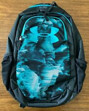 """Under Armour UA Scrimmage 18.5"""" Laptop Backpack Large 25L Black Green New"""
