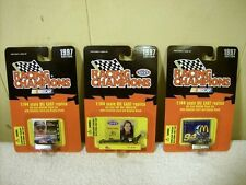 LOT OF 3 RACING CHAMPIONS 1997 EDITION 1/144 NASCAR #5, TOP FUEL DRAGSTER, & 94