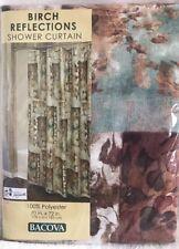 "Bacova Birch Reflections Shower Curtain Brown/Blue Standard 70"" X 72"""