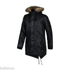 nwt~Adidas NEO COATED HOODED Winter PARKA Hoody Sweat Shirt Coat Jacket~Men sz M