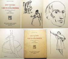 THEATRE/SOUVENIRS DU VIEUX COLOMBIER/55 DESSINS DE BERTHOLD MAHN/1926/EO