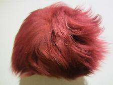Puppen- Fellperücke, rot