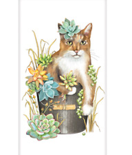 Mary Lake Thompson Single Bagged Flower Sack Towel 30 x 30 Succulent Cat Kitty