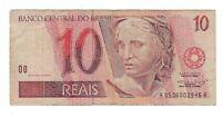 10 Reais Brasilien 1995 AA C286 / P.244g - Brazil Banknote
