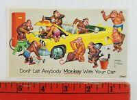 Vintage Prestone Anti Freeze Monkey Auto Mechanics Working Car Advertising Card